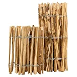 BooGardi Staketenzaun · 12 Größen · 100cm hoch · 5m lang · Lattenabstand 3-5cm · Kastanienzaun aus Haselnuss Gartenzaun Holzzaun
