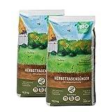 Plantura Bio Herbstrasendünger mit Langzeit-Wirkung, 21 kg, für maximale Winterhärte, idealer Dünger für den Rasen im Herbst, unbedenklich für Hund, Haus- & Gartentiere, Rasendünger, Langzeitdünger