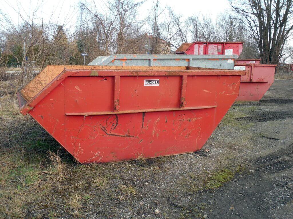 Bauschutt Container für die Entsorgung
