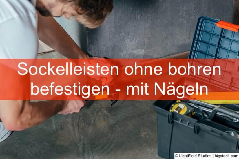 Berühmt Sockelleisten befestigen ohne bohren • Heimwerker-Berater.de TJ66