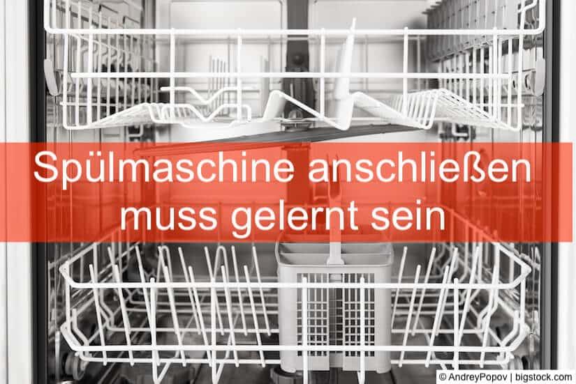 Gut bekannt Spülmaschine anschließen - so geht's • Heimwerker-Berater.de GI57