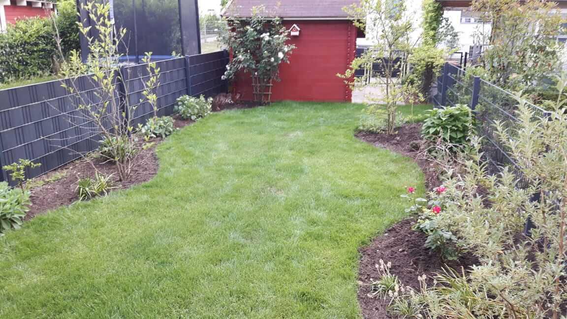Trockengelegter Garten