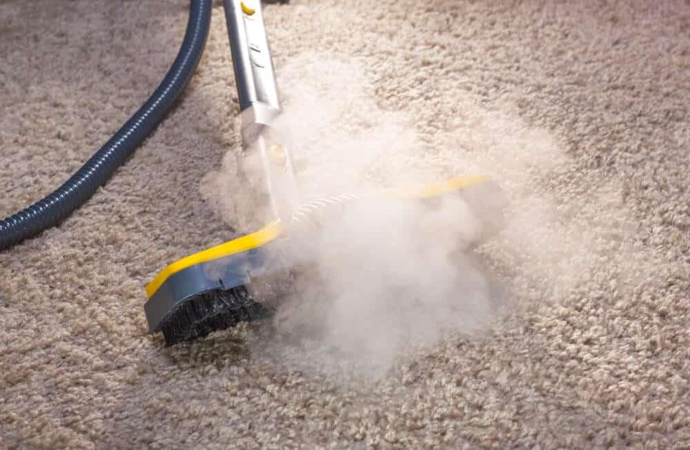Teppichkehrer mit Dampfreinigungsfunktion