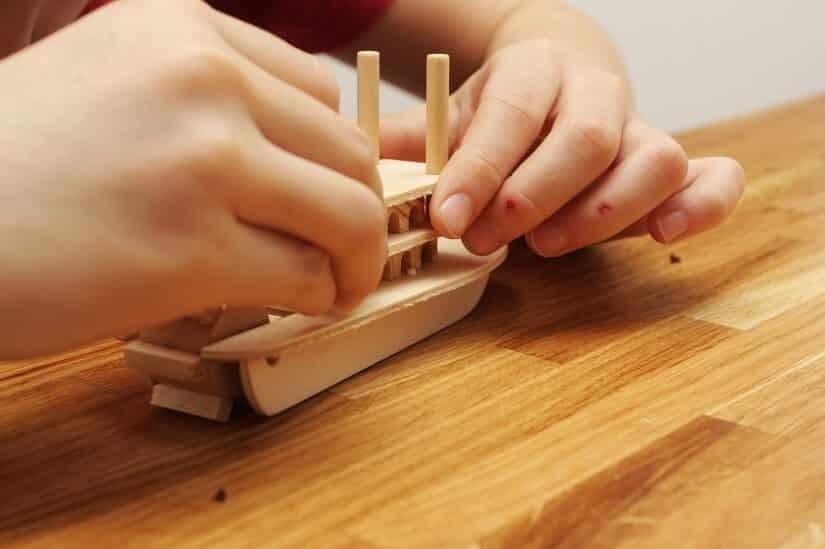 Holz leimen ohne Zwinger