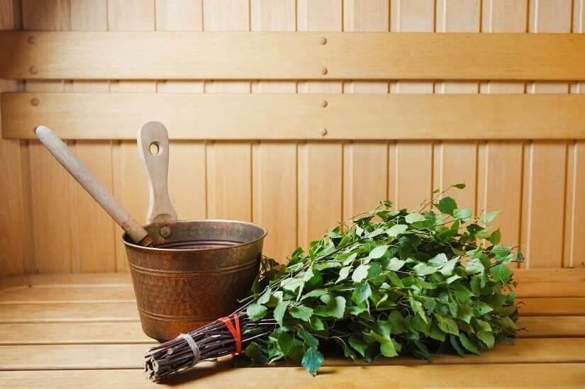 Gartensauna mit Holzofen
