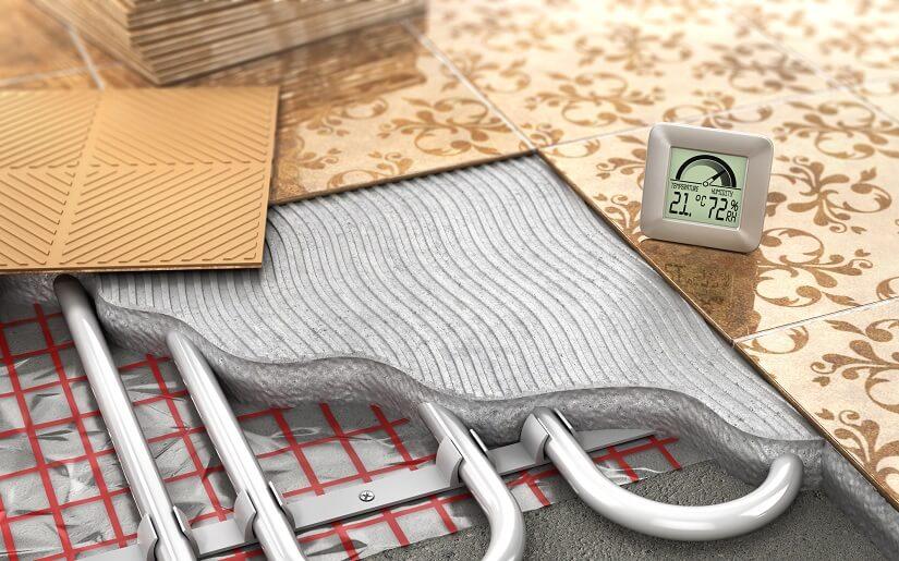 Raumthermostat für die Fußbodenheizung
