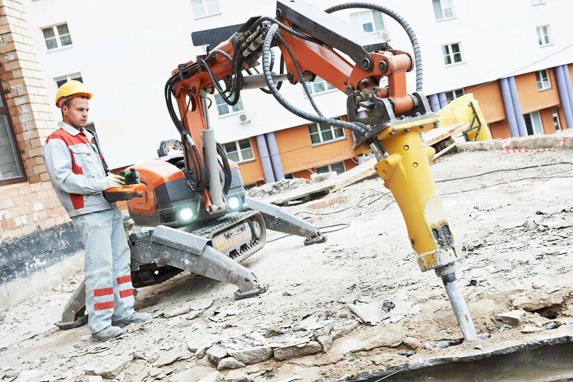 Abbruchhammer als Hydraulikhammer