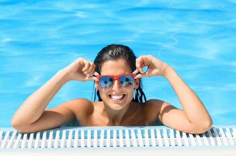 Das Filterglas sorgt für Sauberkeit im Pool