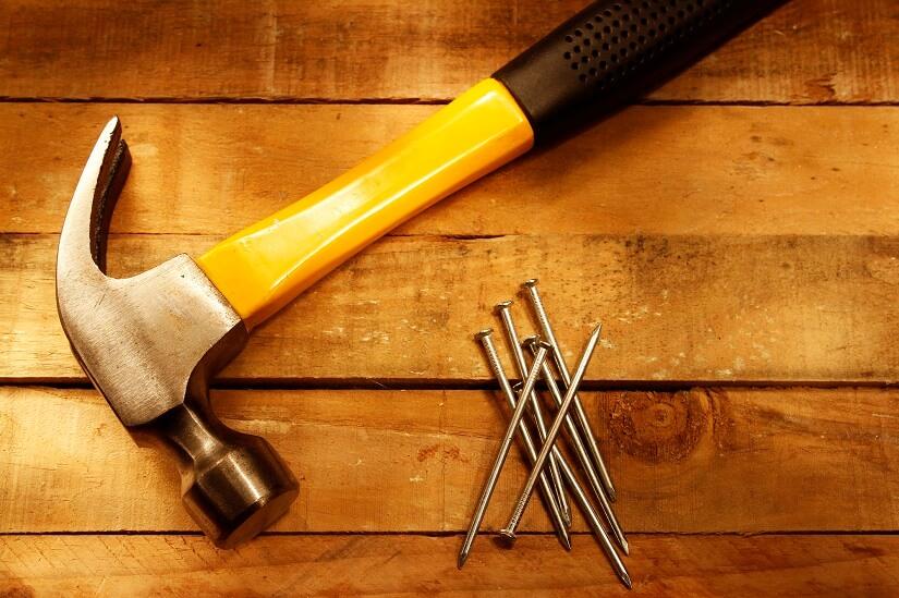 Lattenhammer mit Nagelheber