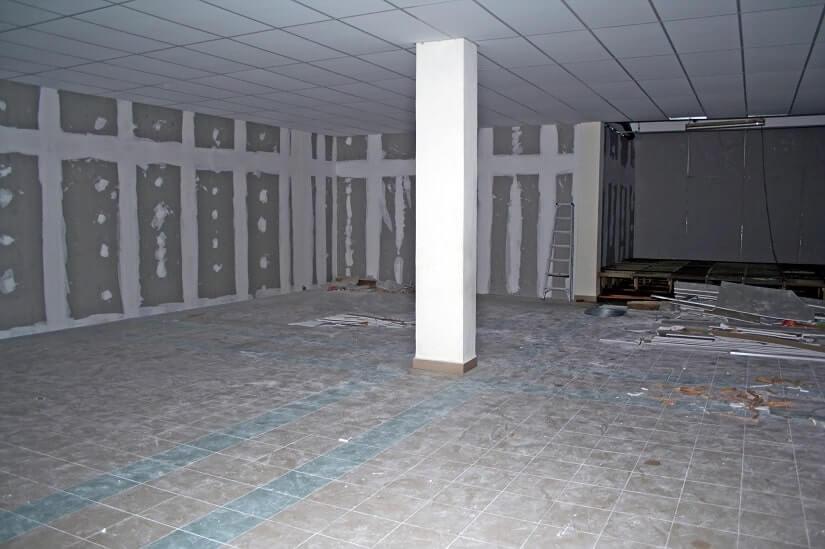 Kellerboden in einem Neubau