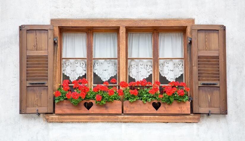 Außenfensterbank aus Holz