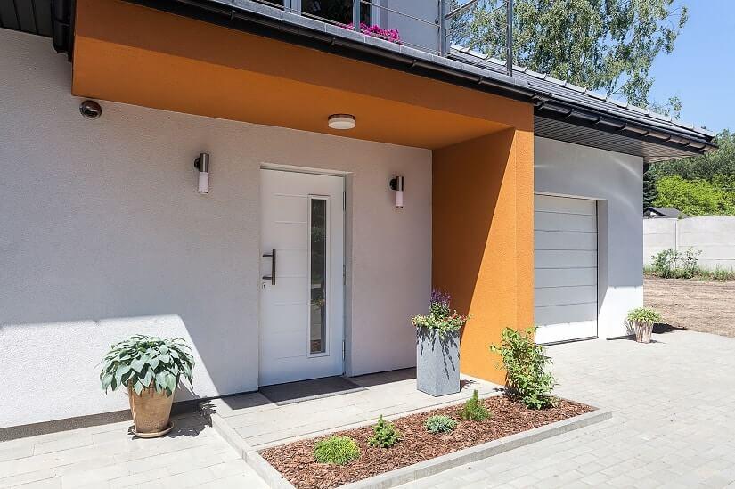 Vordach-Struktur aus Beton